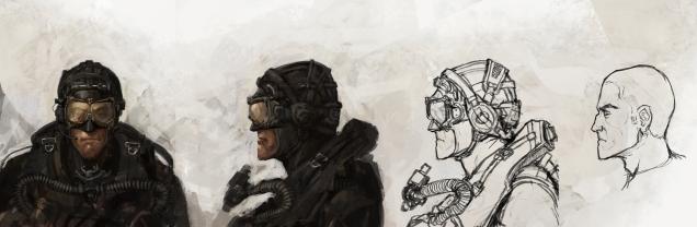 Scuba Merc head - sketch 2